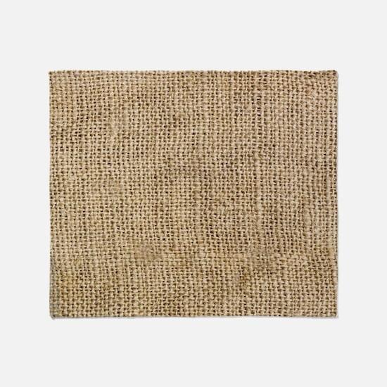 Weathered Burlap Pattern Throw Blanket