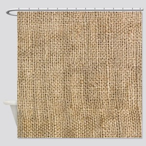 Weathered Burlap Pattern Shower Curtain