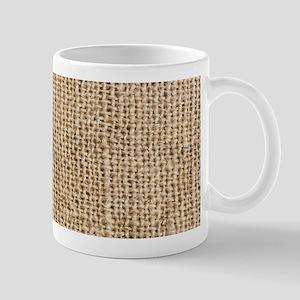 Weathered Burlap Pattern Mug
