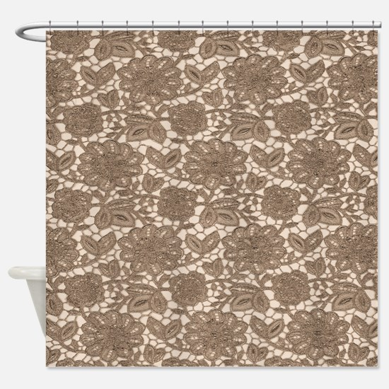 Old Lace Pattern Shower Curtain