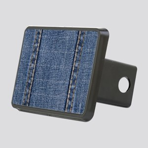Faded Blue Denim A (Vertic Rectangular Hitch Cover