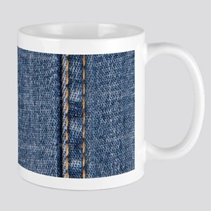 Faded Blue Denim A (Vertical) Mug