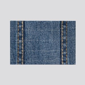 Faded Blue Denim A (Vertical) Rectangle Magnet