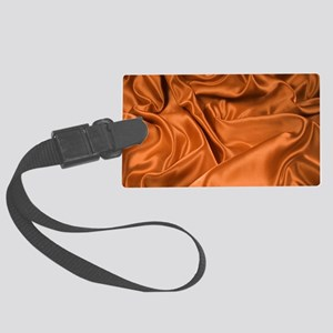 Copper Satin Pattern Large Luggage Tag