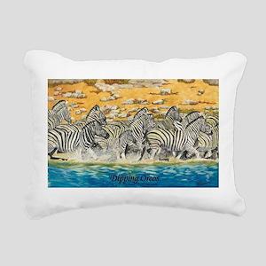 Reflective Pause Rectangular Canvas Pillow
