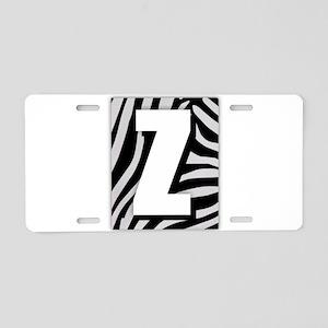 Z - Zebra Print Aluminum License Plate