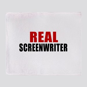 Real Screenwriter Throw Blanket