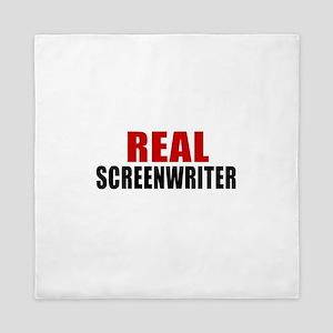 Real Screenwriter Queen Duvet
