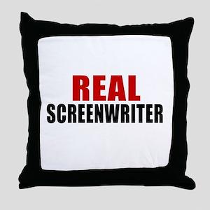 Real Screenwriter Throw Pillow
