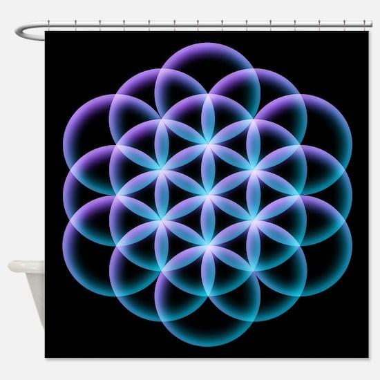 Flower of Life Mandala Shower Curtain