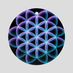 Flower of Life Mandala Round Ornament