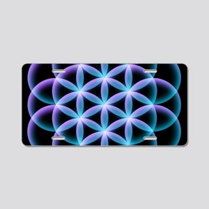 Flower of Life Mandala Aluminum License Plate