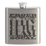Proud Deplorable in the Belly of the Beast Flask