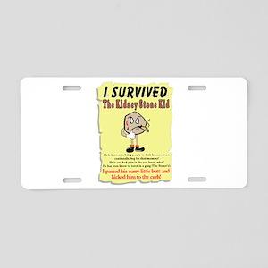 Kidney Stone Aluminum License Plate