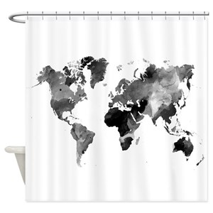 World map shower curtains cafepress gumiabroncs Gallery