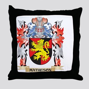 Matheson Coat of Arms - Family Crest Throw Pillow