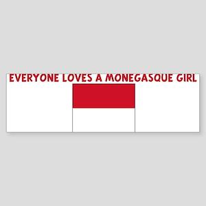 EVERYONE LOVES A MONEGASQUE G Bumper Sticker