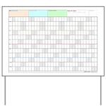 2017 Productivity Calendar® Yard Sign