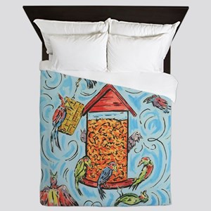 Bird Feeder Queen Duvet