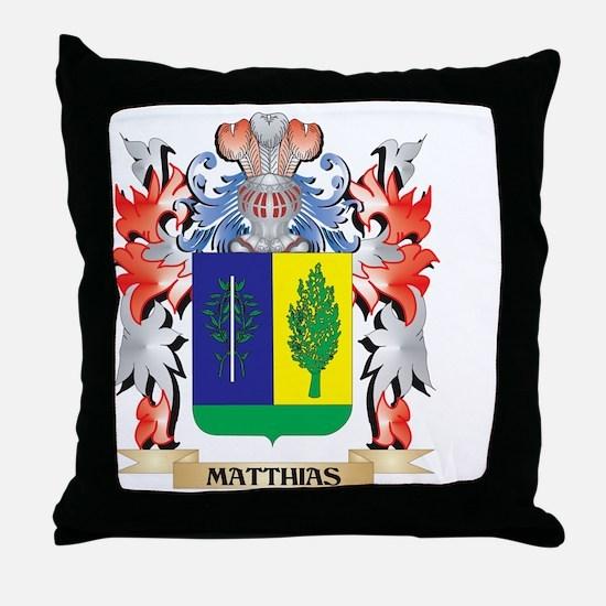 Matthias Coat of Arms - Family Crest Throw Pillow