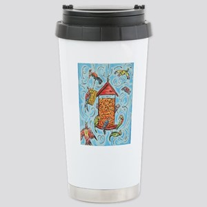 Bird Feeder Stainless Steel Travel Mug