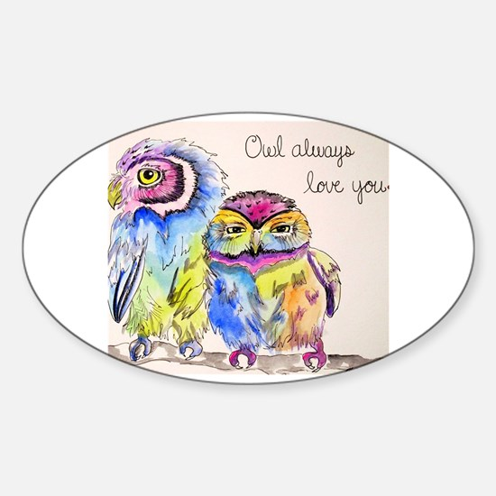 Unique Owl lovers Sticker (Oval)