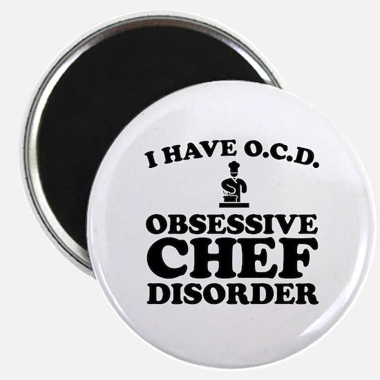 Cute Chef baseball Magnet