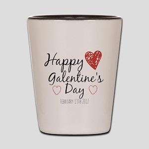 happy galentine's day Shot Glass