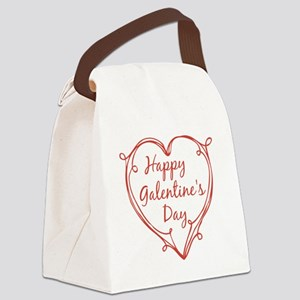 happy Galentine's Day Canvas Lunch Bag
