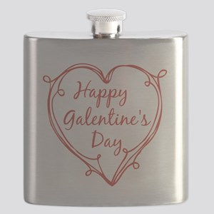 happy Galentine's Day Flask