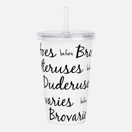 hoes before bros Acrylic Double-wall Tumbler