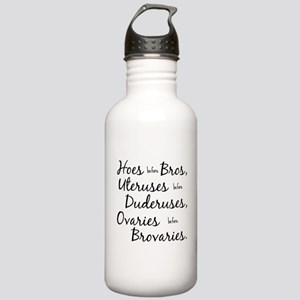 hoes before bros Water Bottle