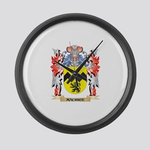 Maurice Coat of Arms - Family Cre Large Wall Clock