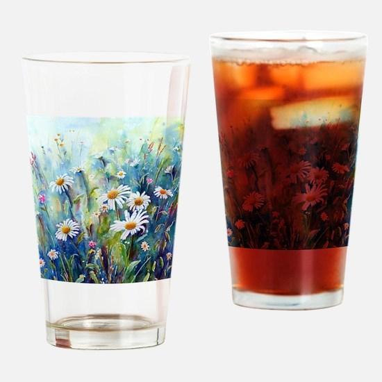 Cute Meadow Drinking Glass