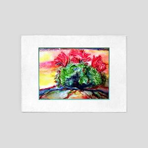 Colorful desert southwest art, 5'x7'Area Rug