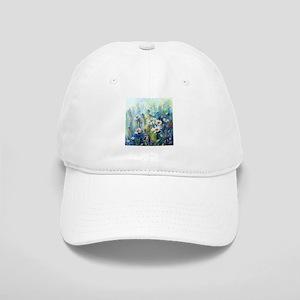 Watercolor painting daisy field Cap