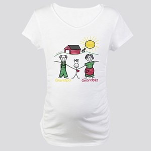 Grandparents and Me Maternity T-Shirt
