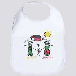 Grandparents and Me Bib