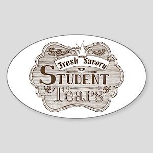 Teacher Student Tears Brown Sticker