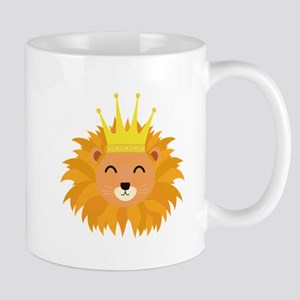 Lion head with crown Mugs