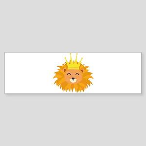 Lion head with crown Bumper Sticker