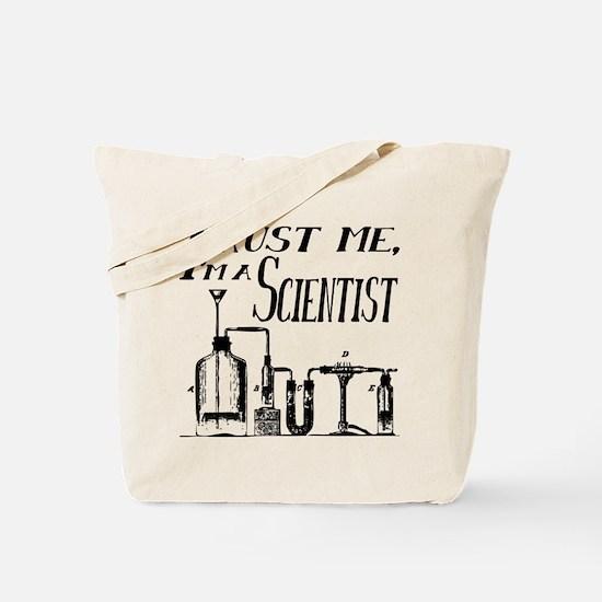 Trust Me, Im a Scientist vintage Tote Bag