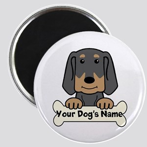 Personalized Black & Tan Coonhound Magnet