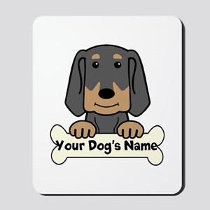 Personalized Black & Tan Coonhound Mousepad