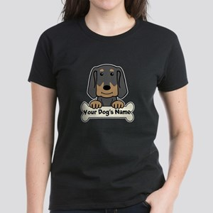 Personalized Black & Tan Coon Women's Dark T-Shirt