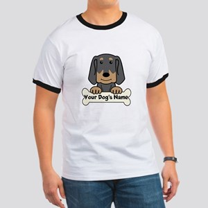 Personalized Black & Tan Coonhound Ringer T