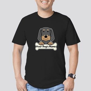 Personalized Black & T Men's Fitted T-Shirt (dark)