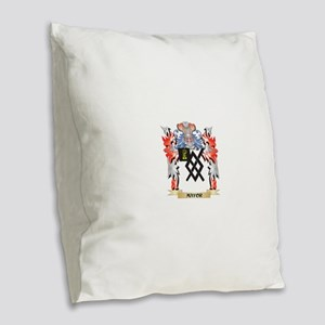 Mayor Coat of Arms - Family Cr Burlap Throw Pillow