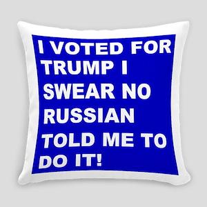 Trump I Swear Everyday Pillow
