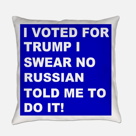 Trump I Swear Everyday Pillow